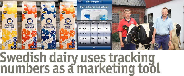 Swedish dairy uses tracking numbers as a marketing tool