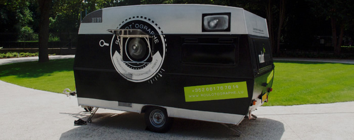 Photography workshops inside a camera obscura on wheels