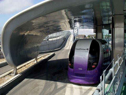 Pod Cars, Moving Silently at Heathrow's Terminal 5