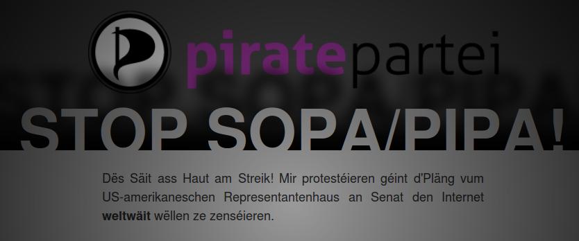 SOPA & PIPA: Das Internet streikt und die Piraten schließen sich an